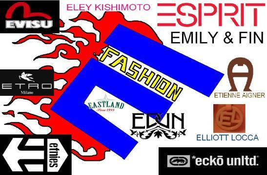 E fashion brands