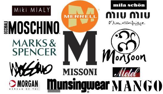 M fashion brands logo